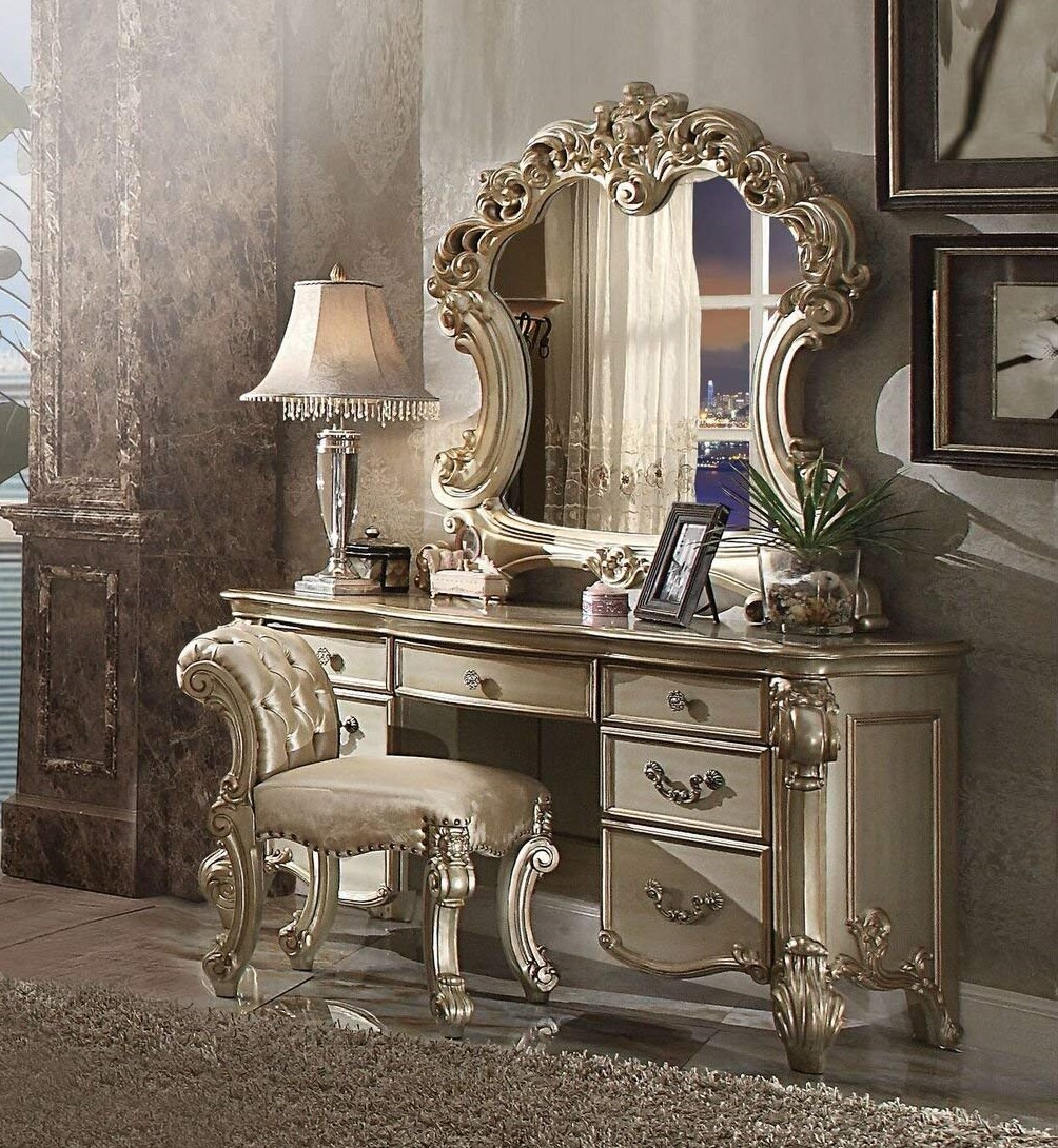 Image of: 2018 Style Bedroom Vanity Sets Benches Sale Near You Video