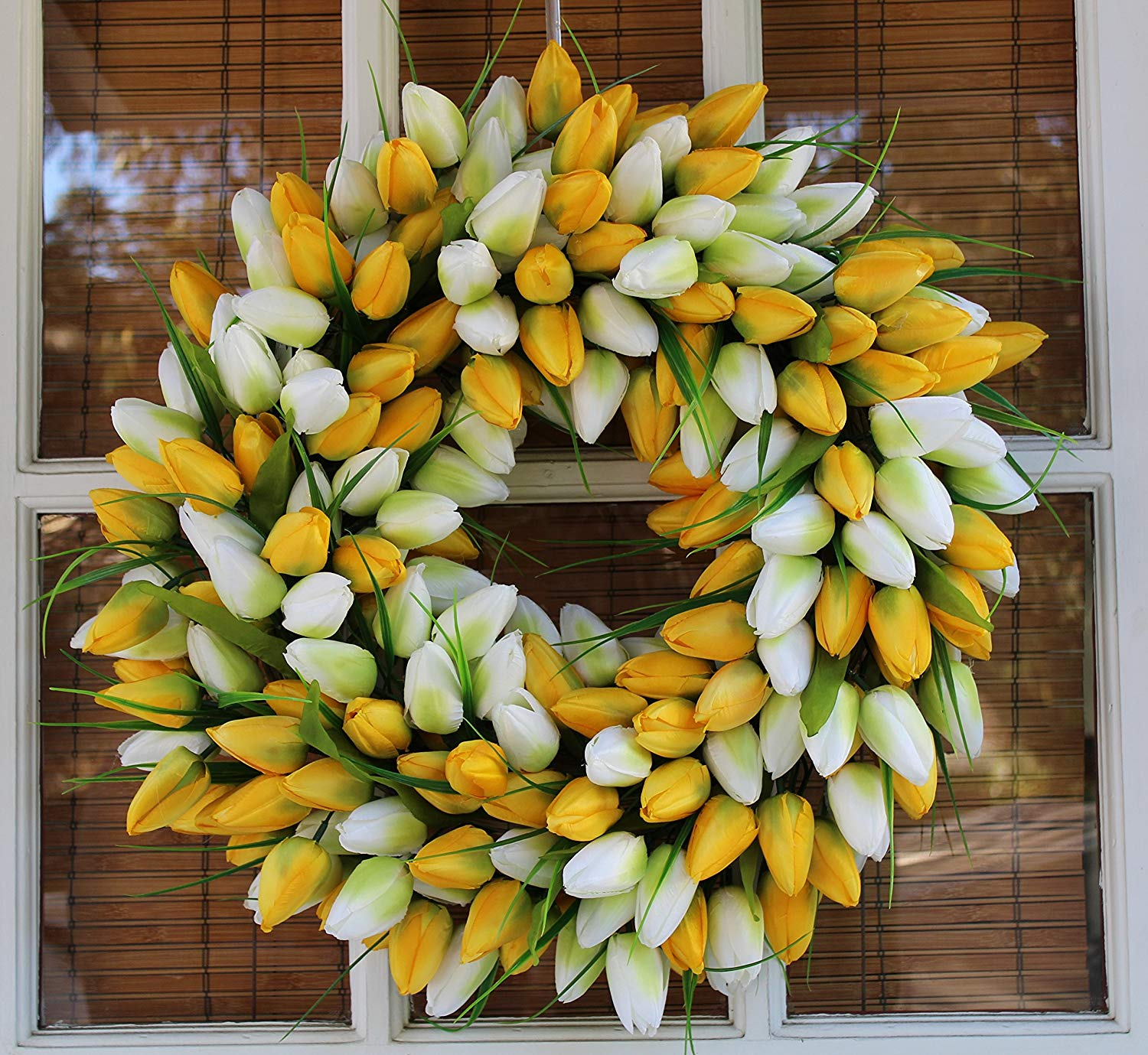 Ultimate Easter Guide - Wreath-Depot-Yellow-And-White-Tulip-19-Inch
