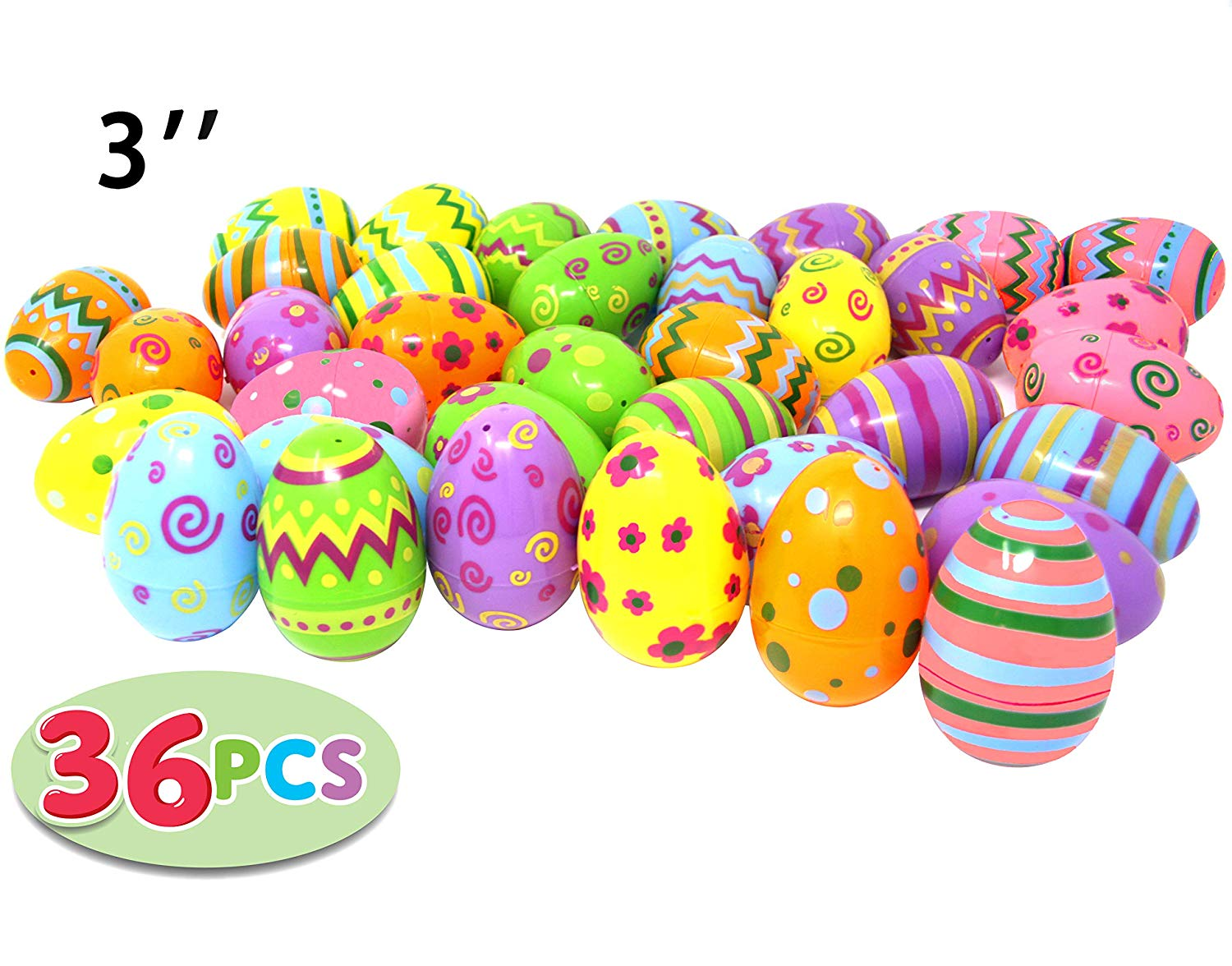 Jumbo Plastic Printed Easter Eggs - click to order