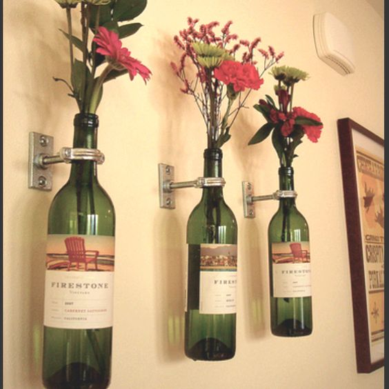 DIY Wine Bottle Art (vases)