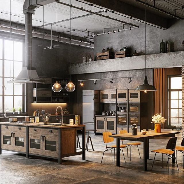 Industrial Design Kitchen Photo