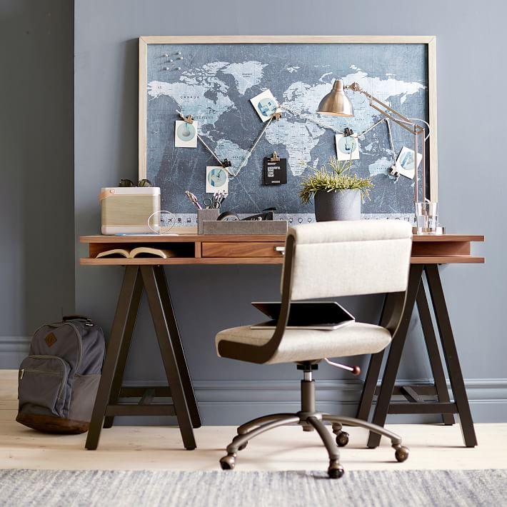 Teen bedroom room ideas # 8 - Atlas Pin-Board @ pbteen.com
