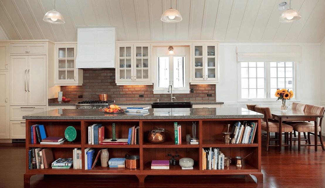 Cherry Island Kitchen Cabinets