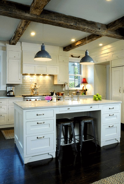 This Island is a sample for a lower budget project simple but sweet... PS click the image if you like to get those kitchen Island bar-chairs