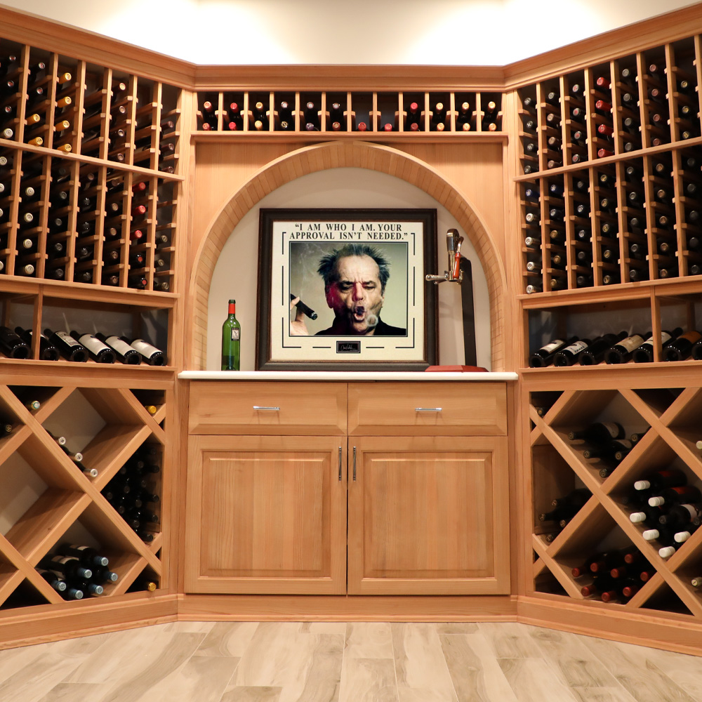 Custom build wine storage found @ wineenthusiast.com. Kitchen decor and accessories  15 Cute Wine Themed Kitchen Decoration Ideas You Can't Miss  cute kitchen theme idea  interior design styles 101  popular kitchen decor themes  unique kitchen themes