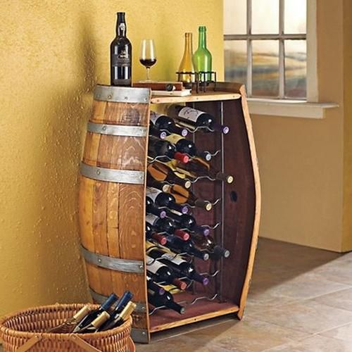Wine Themed kitchen Decoration Ideas comes in form of a wine bar from lushome.com