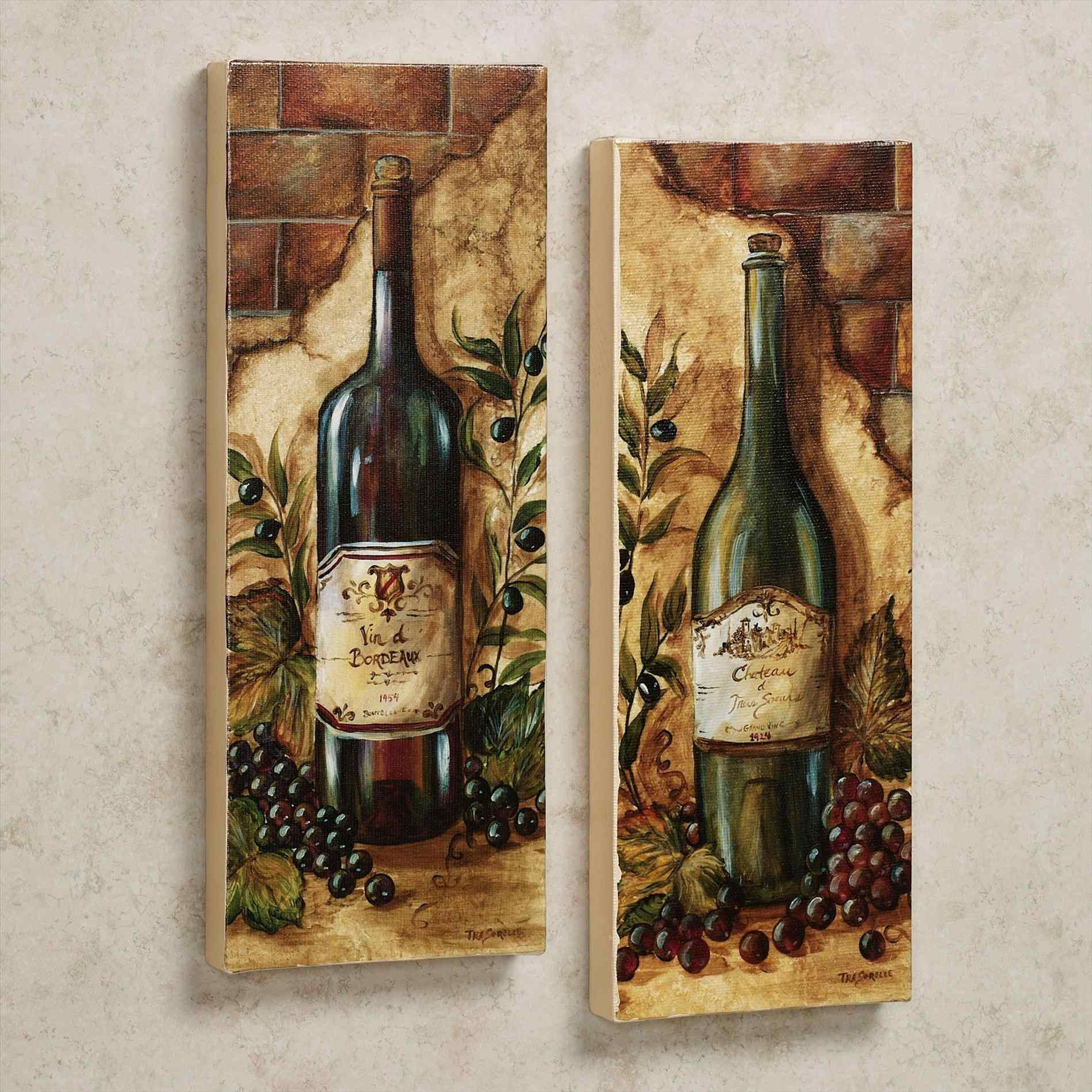 Wine Themed kitchen Décoration Ideas. Wine Themed kitchen Décoration Wll Art