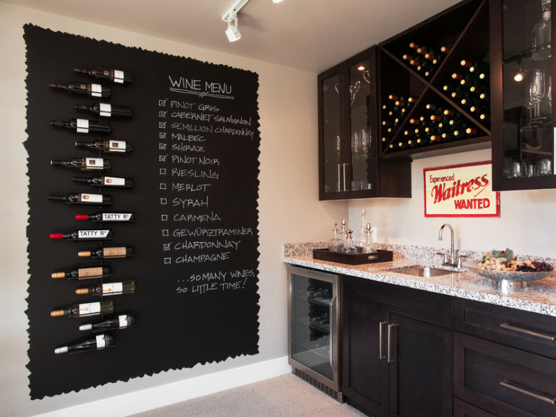 Awesome Wine Themed kitchen Decoration Ideas Keep in mind that there are other colors than black available as chalkboard color. Love the wine Menu