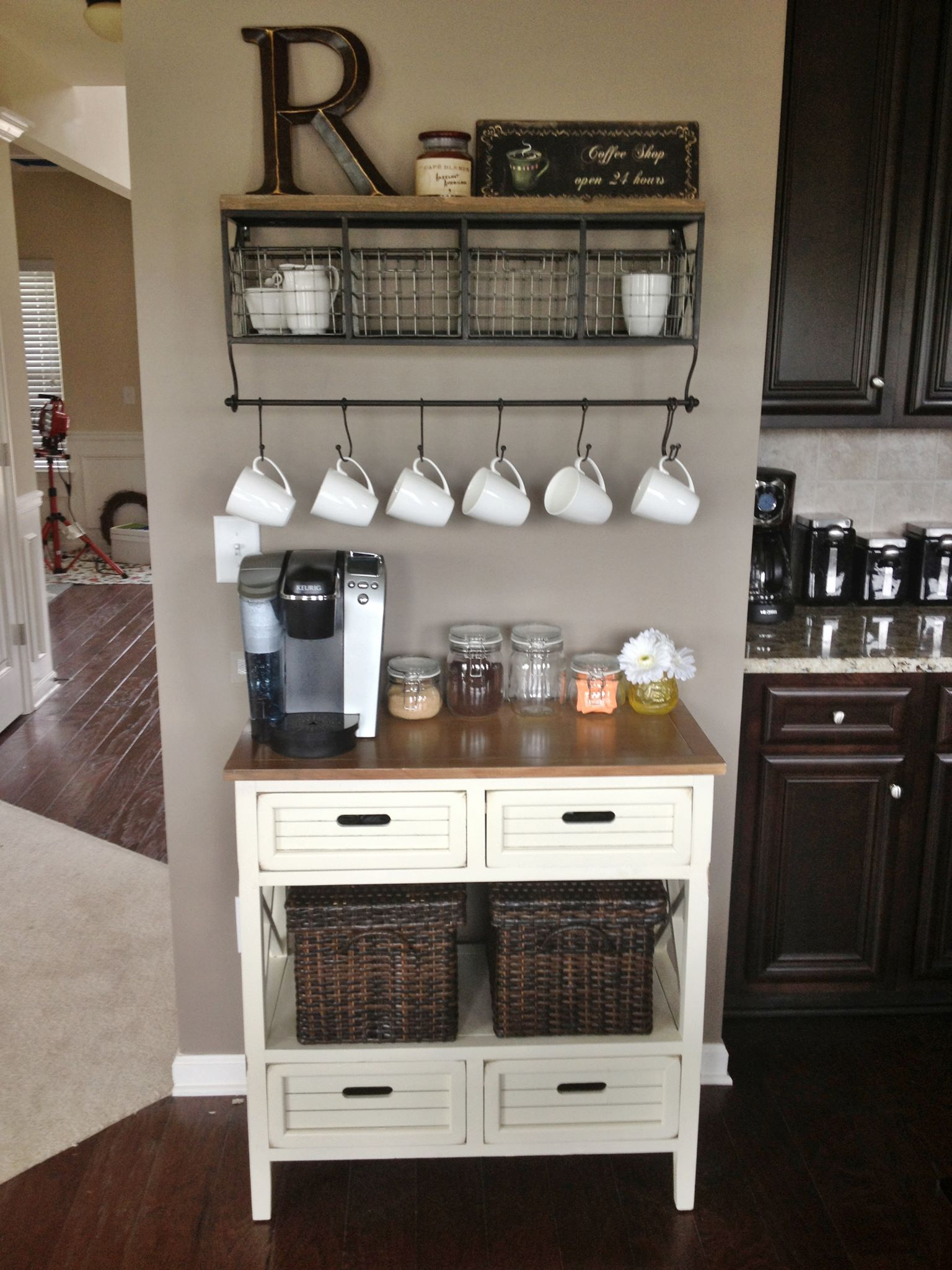 Coffee bar in a kitchen