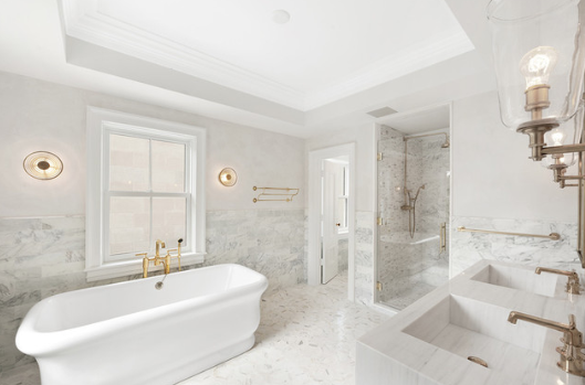#1. Of the 2020 Bathroom Decorating Trends - Art Deco   Art Deco influences tak place inthis gorgeous new bathtubs Kohler & Waterworks the here found exposed brass plumbing will create the luxurious flair