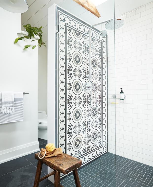 Top 13 of the 2020 Bathroom Decorating Trends that Top Designers Agree on  #2 Bathrooms/Scandinavian-Style-Bathroom_MFR_vanKoeverdenBathroom  Including Statement Walls Is a hot  2020 Bathroom Decor Idea