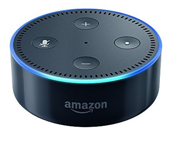 Echo Dot (2nd Generation) - Smart speaker with Alexa - Black  Echo Dot is a hands-free, voice-controlled device with a small built-in speaker. The sleek and compact design makes Echo Dot a convenient addition to any room in the house.