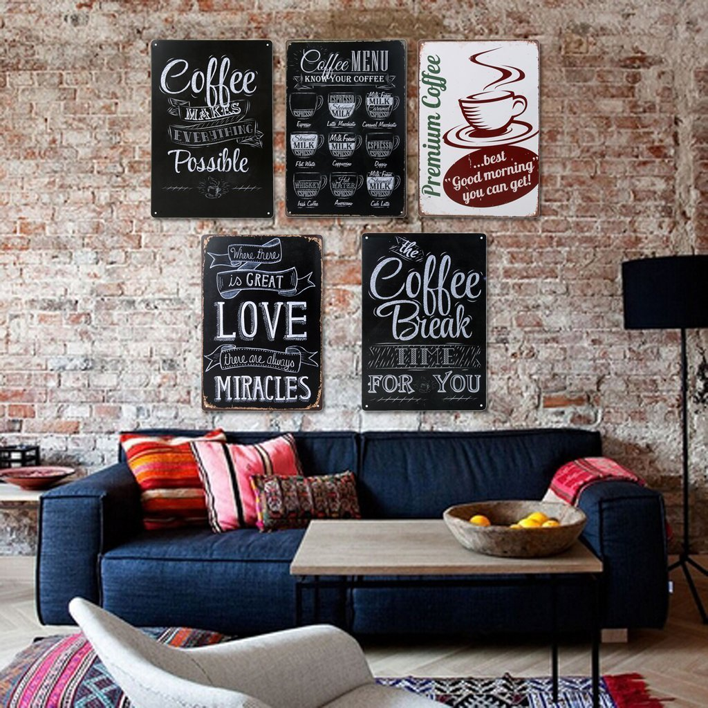 Priced in July 2019 For $7,98 plus Shipping & Handling on orders for less than $25 - Cute coffee themed kitchen art
