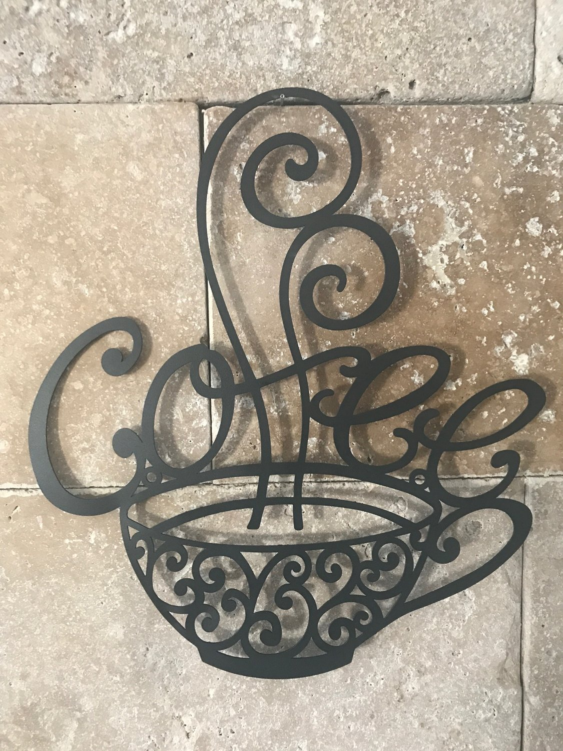 """""""Five Stars"""" Cute Coffee Themed Kitchen Decor - by Barbara  Perfect for the wall in my kitchen that I wanted to fill!! find the details & customer review of my 15 most popular & cute coffee themed kitchen decorations"""