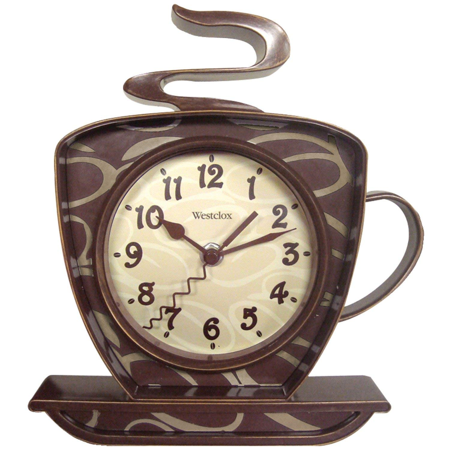 Westclox 32038 Coffee Time 3-D  find the details & customer review of my 15 most popular & cute coffee themed kitchen decorations Wall Clock priced: in July 2019 - $7,70 at Amazon.com  Top Product of our Most Popular Coffee Themed Kitchen Decorations