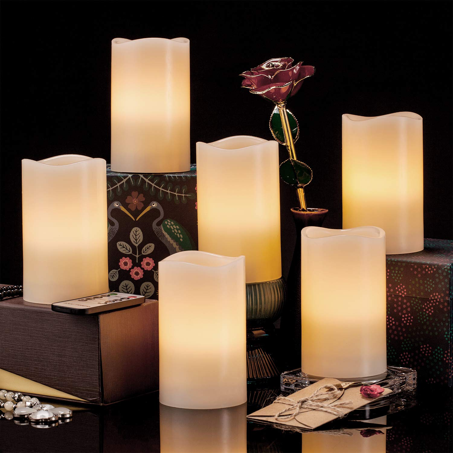 You Only Need 9 Accessories For A Cozy Home Decor and these decorative flicker candles should be one of them. They can be widely applied to birthday, Christmas, home decorations, bars, hotel, parties, holidays, wedding, or other occasions. $22.00 and free shipping on orders over $25 or ship fast & free with Amazon Prime (Try Prime for free!)