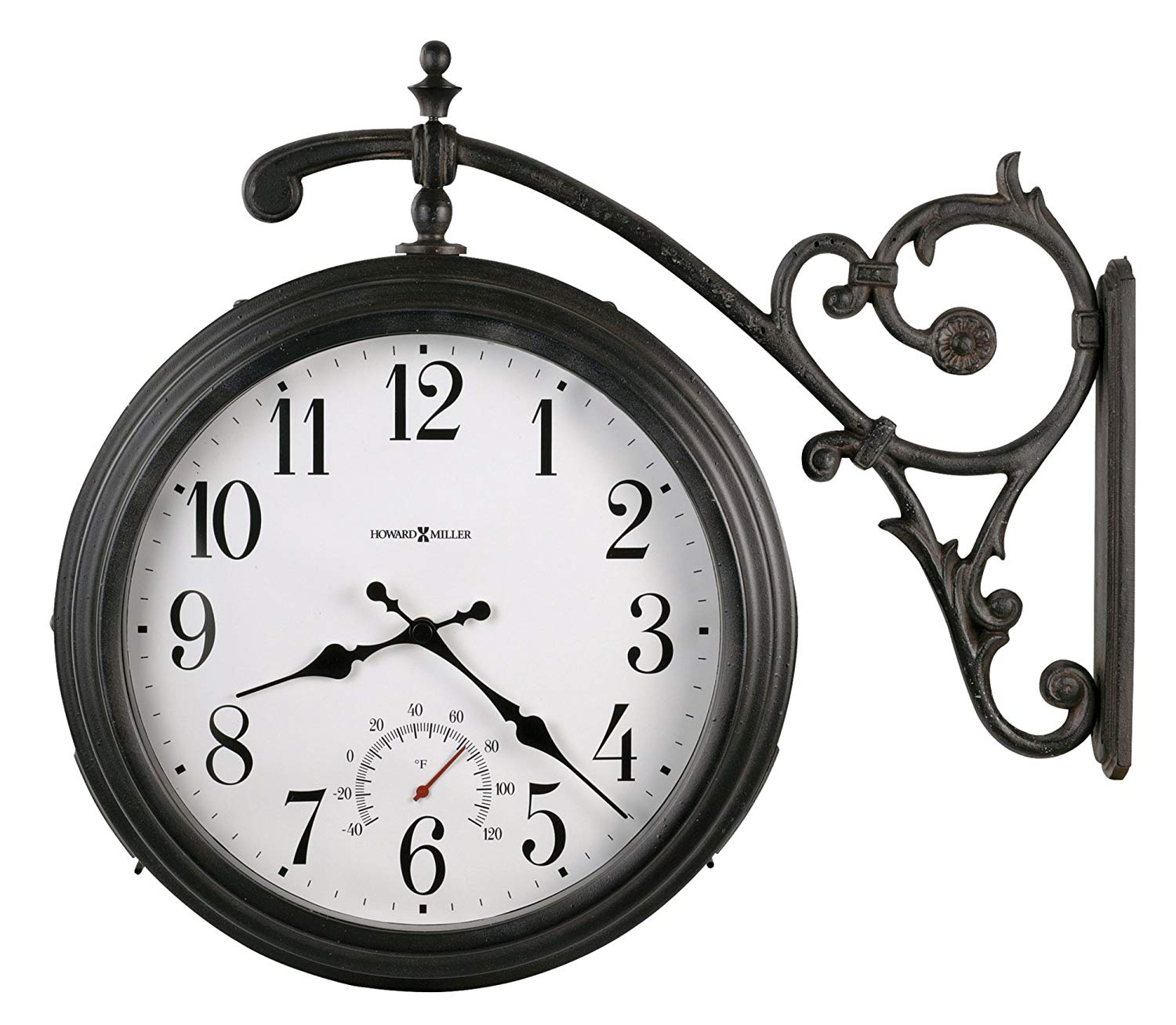 Classic Wall Clock in Weathered Iron