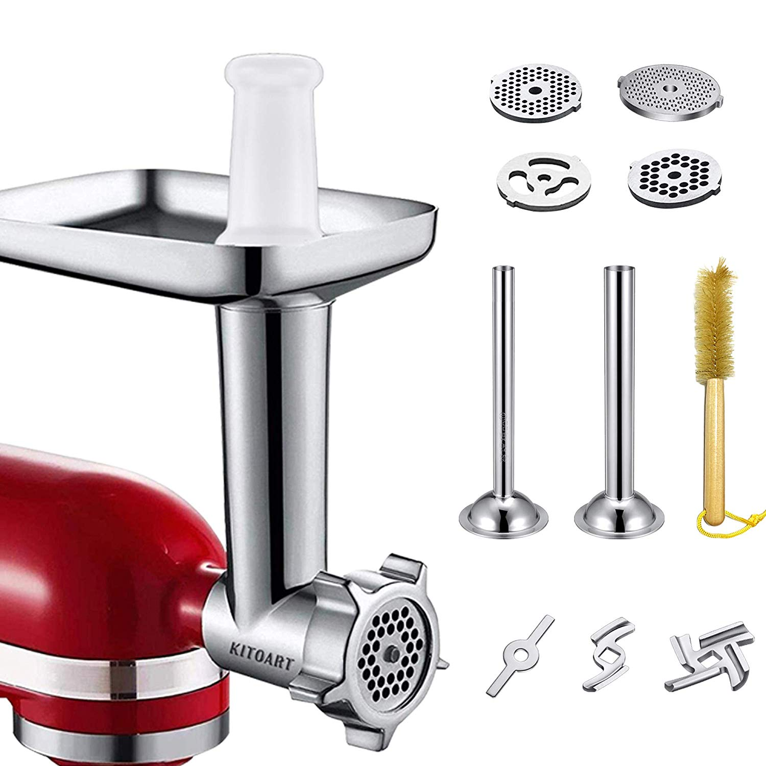 The KITOART Food Meat Grinder Attachment was designed and manufactured by a professional team, perfectly attached to ALL Kitchenaid stand mixers, easily handle various tasks, expediently create ideal dinning at home. KitchenAid   KitchenAid Mixer  KitchenAid Artisan   Artisan Tilt-Head Stand Mixer   KitchenAid Accessories  pasta kitchenaid attachment  kitchenaid blender   kitchenaid mixer on sale  KitchenAid Mixer Review 2019  KitchenAid® Stand Mixer Warranty for the 50 United States