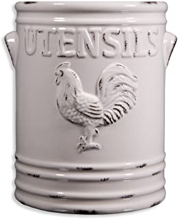 country style cooktop utensils holder
