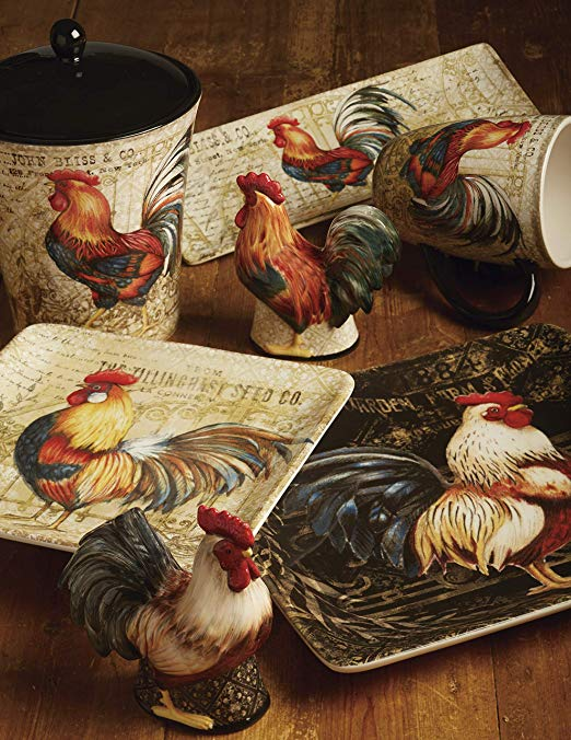 Big Rooster Decorations For Kitchen Sale & Country Lodge Or ...