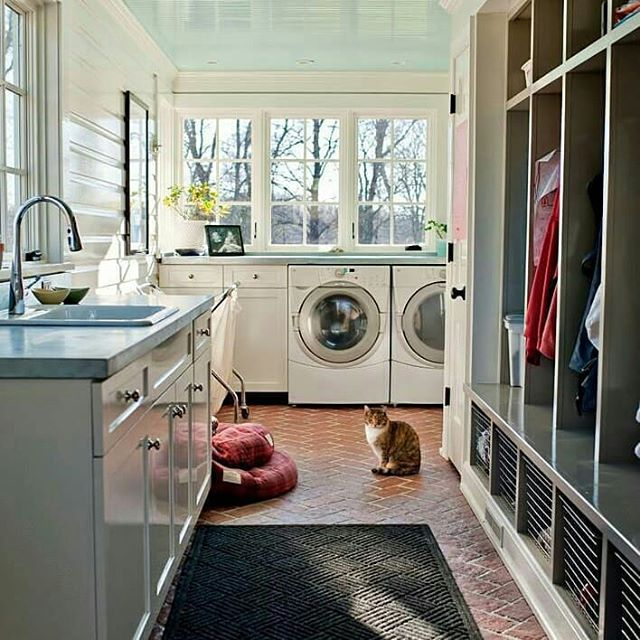 Beautiful Space  this actually might be a mud room Laundry room combination with farmhouse sink for laundry room We often have those around the lakes to do a rough cleanup in the farmhouse laundry room sink