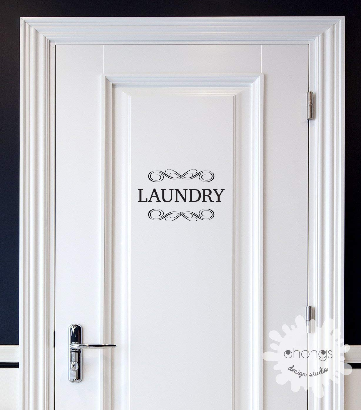 """2 Life essential items! They are basic but they could make your life easy and simple. These can be easily applied or removed, leaving no residue to your walls. * Picture is for reference only and may NOT accurately represent the actual size.  ★ FEATURES ★ size (11""""W) PANTRY : 11""""W X 7""""H LAUNDRY : 11""""W X 6.5""""H RESTROOM : 11""""W X 6.3""""H OFFICE : 11""""W X 7.5""""H PRIVATE : 11""""W X 7""""H  ★ INCLUDES ★ 1 door decal Installation instructions Free Test Decals  ★ DESCRIPTION ★ Removable Wall Vinyl Matte Finish ( except gold, silver, copper. They are metallic color. ) Can be applied to windows or vehicle 3 year outdoor durability  ★ CUSTOMIZATION ★ Other style : Please leave your details in the box Please contact us for: Different sizes to fit your space"""