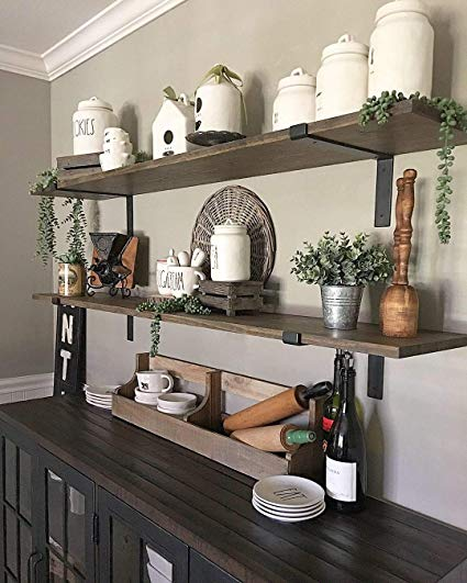 farmhouse decorating guide tip Farmhouse Shelf Bracket made from black Iron Set off 4