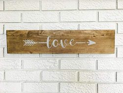 The Farmhouse Rustic Style Wood Signs By Claude16Poe is a wooden decor sign. Handmade cut and one side printed. Check if seller ships into your Country