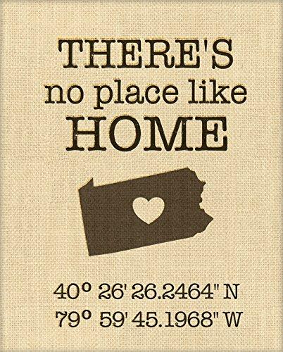 100 percent Burlap Print Housewarming Gift Sample