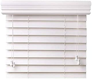 CHICOLOGY Custom-Made 2-Inch Faux Wood Blind, Simply White/Horizontal Window Shade/Inside Mount, 18