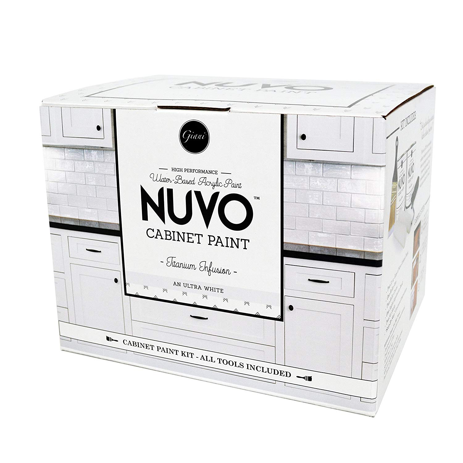 Kitchen Cabinet Refacing Kit Nuvo in the box ships everything you need