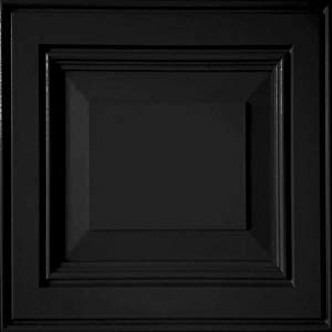 image of black painted door