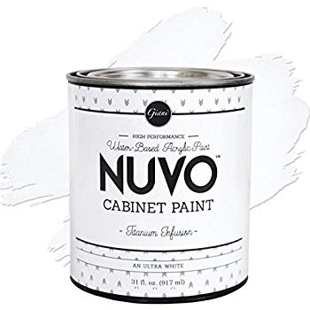 kitchen cabinet refinishing Nuvo Titanium Infusion 1 Day Cabinet Makeover Kit by Nuvo Get great looking kitchen cabinetry  Nuvo Titanium Infusion Paint Kit  Don't just live with your outdated kitchen cabinets, LOVE them! Nuvo is a DIY one-day cabinet makeover process that does not require any cabinet removal or priming! Get professional-looking results with just a roller and brush!  Each kit covers approximately 100 square feet (40 linear feet), the typical kitchen size.