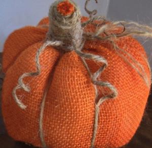 Fall Decor DIY Tutorials Easy No Sew Burlap Pumpkins from Confessions of a Plate Addict