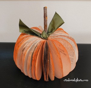 Book Page Pumpkin  from Creations by Kara