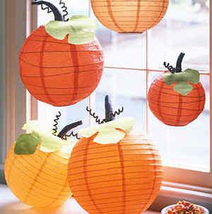 Fall Decorating Ideas - 79 Pumpkin paper lantern Pumpkin Lantern from Martha Stewart