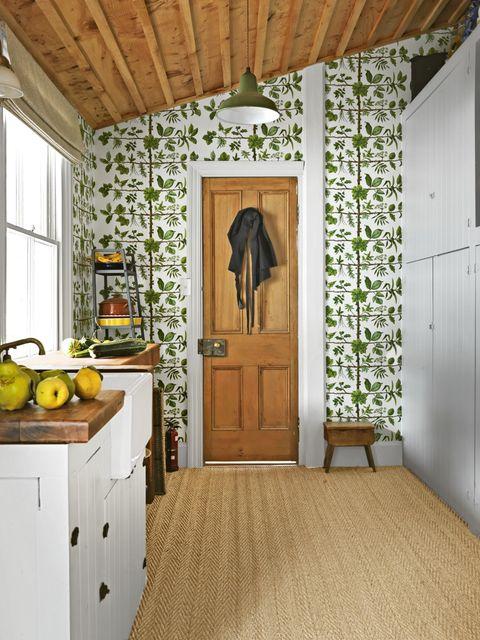 fall decorating ideas greenery wallpaper