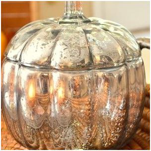 DIY Mercury Pumpkin from The Frugal Homemaker