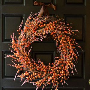 Easy DIY Fall Berry Wreath from To Simply Inspire