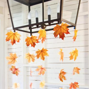 Hanging Leaves Garland (source unknown
