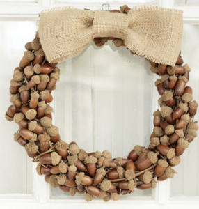 Acorn Wreath Home Fall Decorations from Tried and True