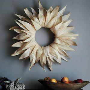 Corn-Husk Wreath from Martha Stewart  Fall Decorations