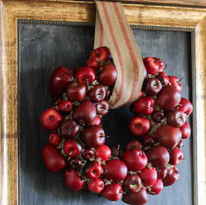Fall Decor DIY Tutorials  Apple Wreath Home Fall Decorations from The Wood Grain Cottage