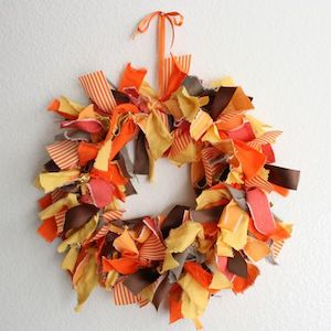 Autumn Fabric Wreath  Fall Decorating Ideas from A Beautiful Mess