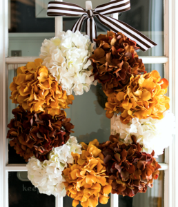 Home Fall Decorations Fall Hydrangea Fall Wreath from It All Started with Paint