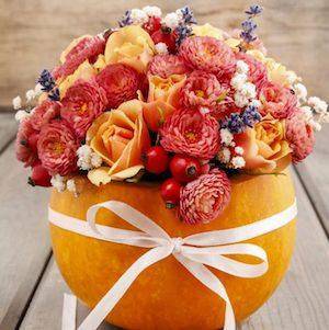 Pumpkin Flower Arrangement  Fall Decor DYI  from Garden Therapy