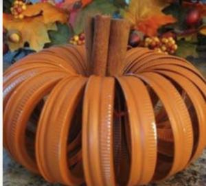 Mason Jar Lid Pumpkin (source unknown