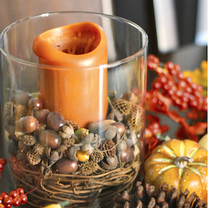 Pottery Barn Inspired Candle Fall Decorating Ideas - from Live Laugh Rowe