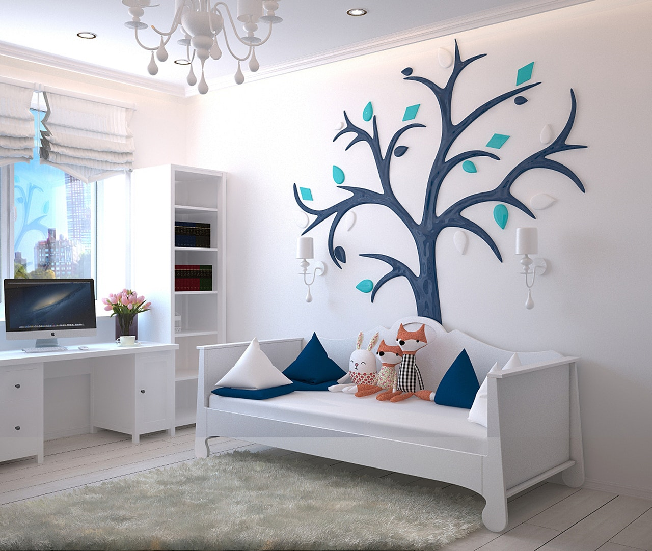 Personalized Wall Treatments  The tree could make a great photo collage