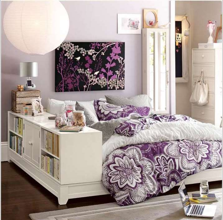 A teens bedroom for girls
